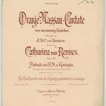 Oranje-Nassau-cantate : voor meerstemmig kinderkoor : opus 33 : aubade aan H.M. de Koningin