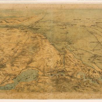 Het Suezkanaal in vogelvlucht, 1882