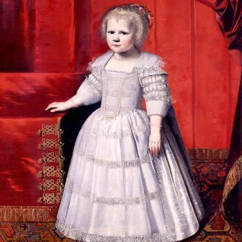 Portret van Elisabeth Friso als kind