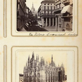 Gezichten in Milaan, circa 1870