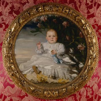Portret van Juliana als kind