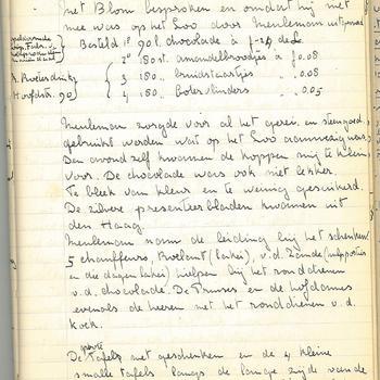 Aantekeningen van de voorbereiding en kerstviering voor het personeel op Paleis Het Loo, 1931