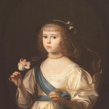 Portret van Louise Henriëtte als kind