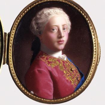 Portretminiatuur van George III