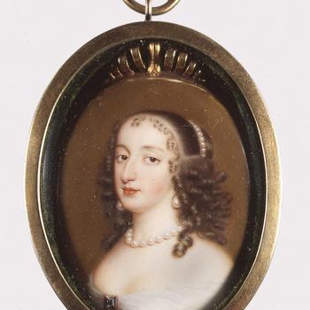 Portretminiatuur van Maria Stuart