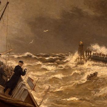 Prins Hendrik bezoekt de ramp met stoomschip Berlin
