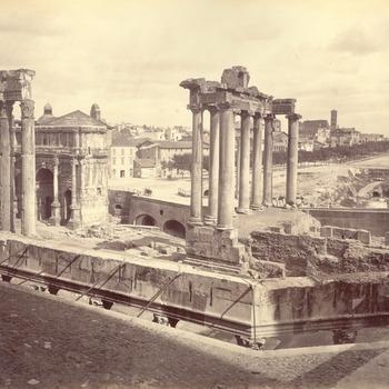 Gezicht op het Forum Romanum, circa 1870-1871
