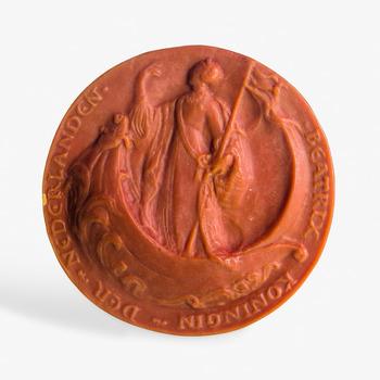 Afgietsel van het grootzegel van Beatrix