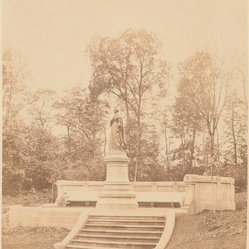 Standbeeld van prinses Amalia in Luxemburg, circa 1876