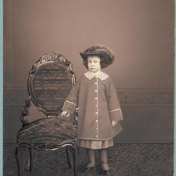 Kinderportret van prins Alexander (1851-1884), circa 1856-1857