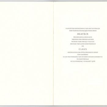 Plechtige inzegening van het huwelijk van prinses Beatrix en Claus von Amsberg