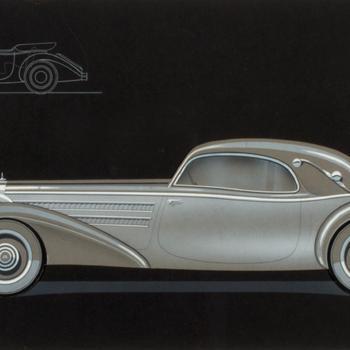 Een vorstelijke limousine, de Maybach Zeppelin, circa 1936