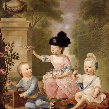 Groepsportret van de kinderen van stadhouder Willem V