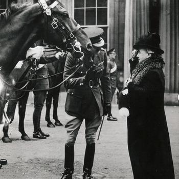 Koningin Wilhelmina biedt paarden aan, 31 juli 1946