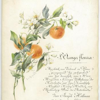 L'oranger fleurira : pour violoncel et piano