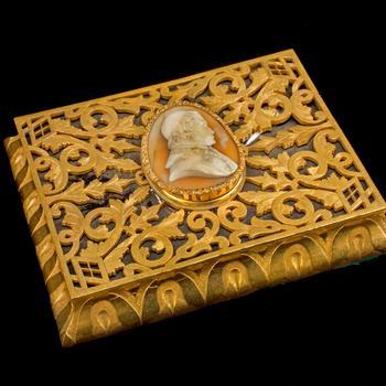 Presse-papier met camee van Paus Pius IX
