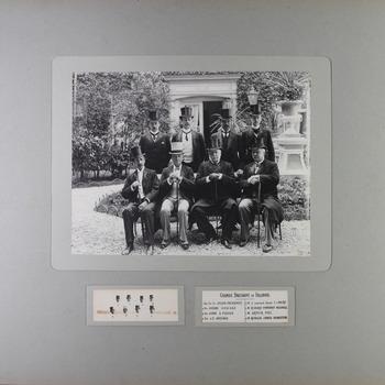 Groepsportret van de delegatie van Groot-Brittannië en Ierland