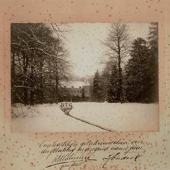 Het Oude Loo in de sneeuw, 6 december 1903