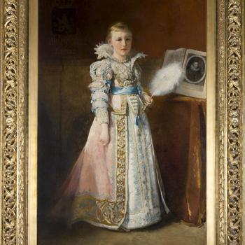 Portret van koningin Wilhelmina als kind