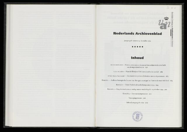 Nederlandsch Archievenblad 1994-12-01