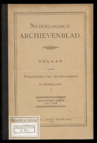 Nederlandsch Archievenblad 1917-09-01