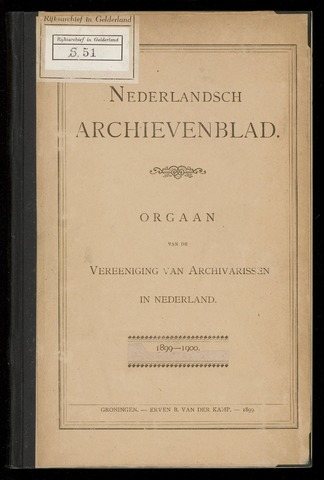 Nederlandsch Archievenblad 1899-09-01