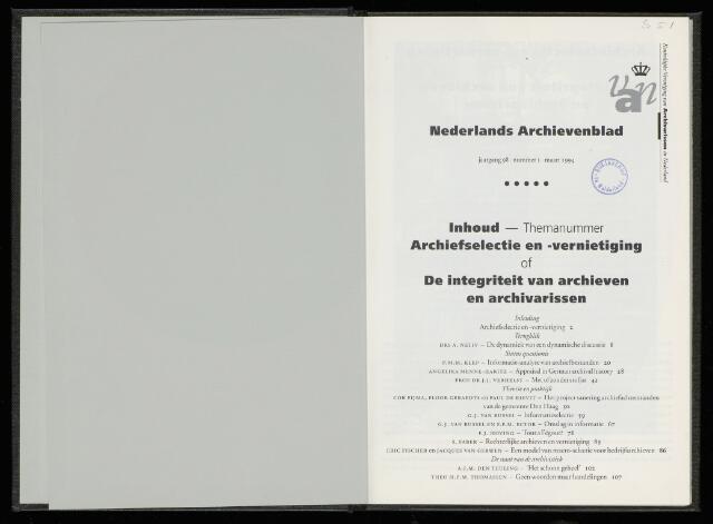 Nederlandsch Archievenblad 1994