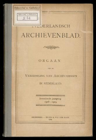 Nederlandsch Archievenblad 1908-09-01