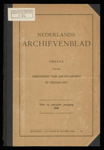 Nederlandsch Archievenblad 1960-04-01