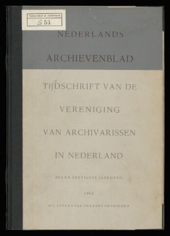 Nederlandsch Archievenblad 1962-04-01