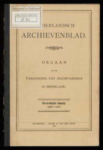 Nederlandsch Archievenblad 1927-01-01