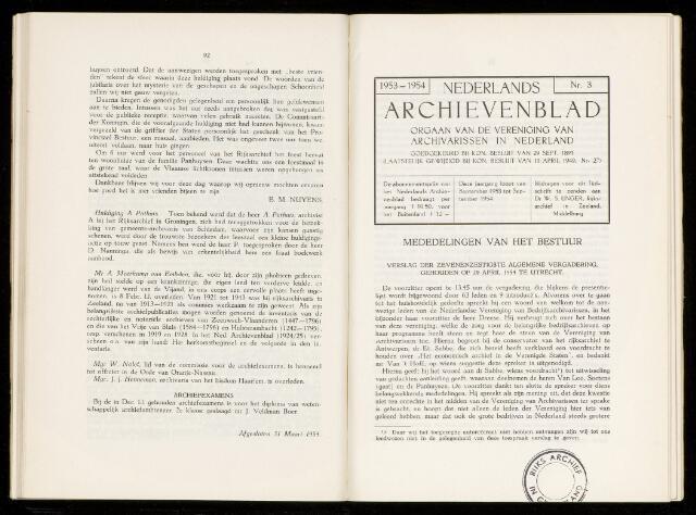 Nederlandsch Archievenblad 1954-09-01