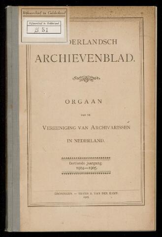 Nederlandsch Archievenblad 1904