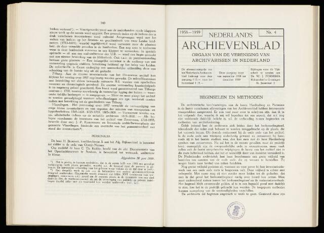 Nederlandsch Archievenblad 1959-10-01