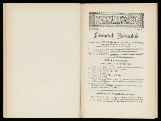 Nederlandsch Archievenblad 1926-05-01