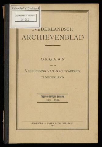 Nederlandsch Archievenblad 1932