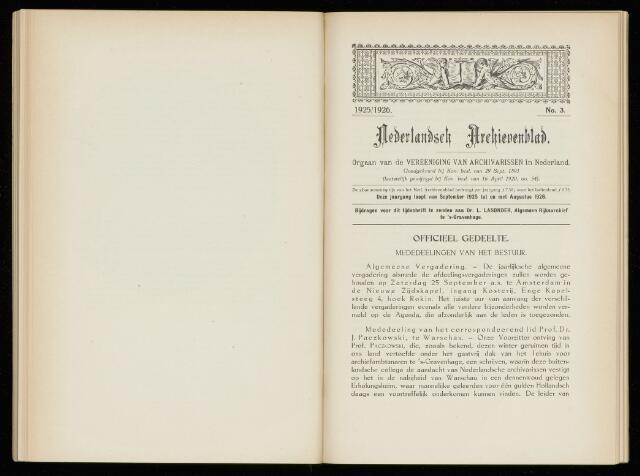 Nederlandsch Archievenblad 1926-09-01