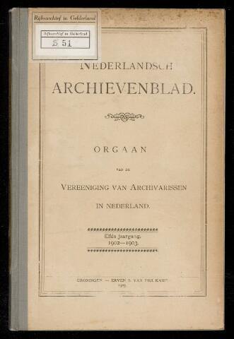 Nederlandsch Archievenblad 1902-10-01