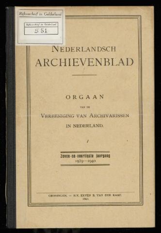 Nederlandsch Archievenblad 1940-01-01