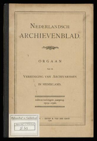 Nederlandsch Archievenblad 1919