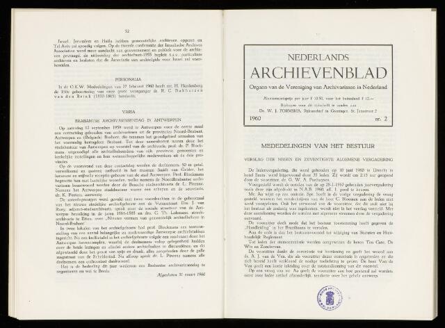 Nederlandsch Archievenblad 1960-07-01