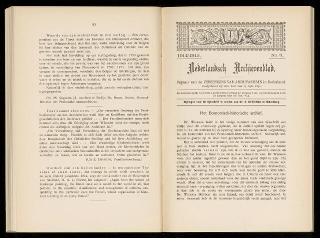 Nederlandsch Archievenblad 1914-09-03