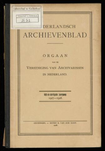 Nederlandsch Archievenblad 1928