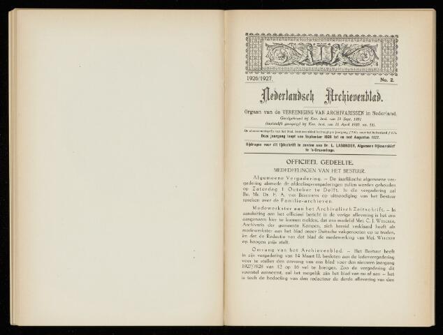 Nederlandsch Archievenblad 1927-06-01