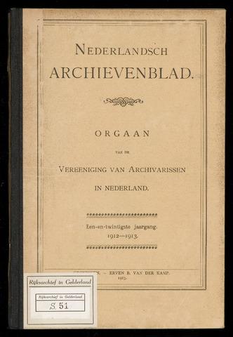 Nederlandsch Archievenblad 1912