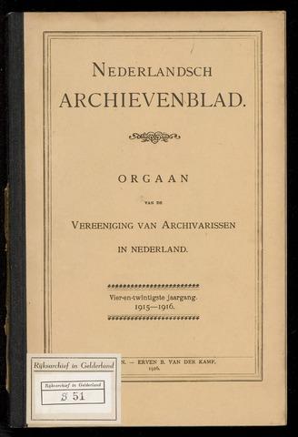 Nederlandsch Archievenblad 1915