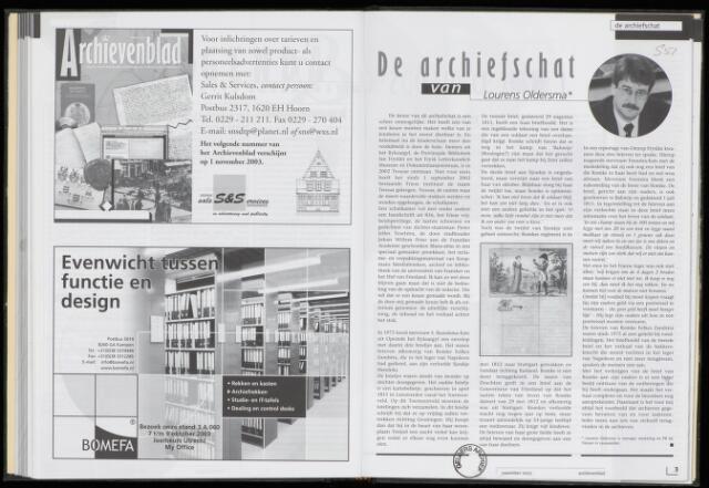 Archievenblad 2003-11-01