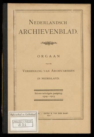 Nederlandsch Archievenblad 1914-09-01