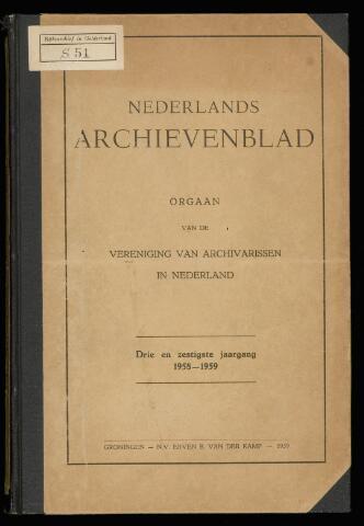 Nederlandsch Archievenblad 1958-12-01