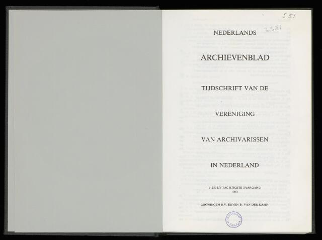 Nederlandsch Archievenblad 1980-04-01